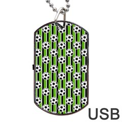 Ball Line Dog Tag Usb Flash (two Sides)  by AnjaniArt