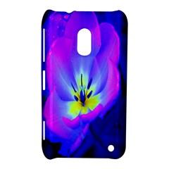 Blue And Purple Flowers Nokia Lumia 620 by AnjaniArt