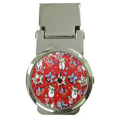 Xmas Santa Clause Money Clip Watches by AnjaniArt