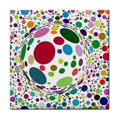 Color Balls Tile Coasters