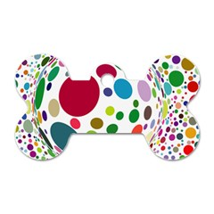 Color Balls Dog Tag Bone (one Side) by AnjaniArt