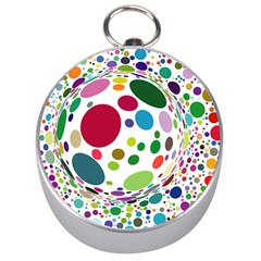 Color Balls Silver Compasses by AnjaniArt