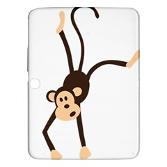 Colorful Animal Monkey Samsung Galaxy Tab 3 (10 1 ) P5200 Hardshell Case  by AnjaniArt