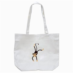 Colorful Animal Monkey Tote Bag (white) by AnjaniArt