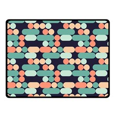 Coral Mint Color Style Double Sided Fleece Blanket (small)  by AnjaniArt