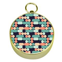 Coral Mint Color Style Gold Compasses by AnjaniArt