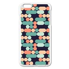 Coral Mint Color Style Apple Iphone 6 Plus/6s Plus Enamel White Case by AnjaniArt