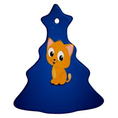 Cute Cat Ornament (christmas Tree) by AnjaniArt