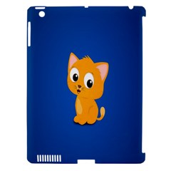 Cute Cat Apple Ipad 3/4 Hardshell Case (compatible With Smart Cover) by AnjaniArt