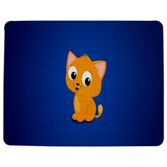 Cute Cat Jigsaw Puzzle Photo Stand (rectangular) by AnjaniArt
