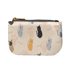 Cute Cat Meow Animals Mini Coin Purses by AnjaniArt