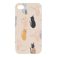 Cute Cat Meow Animals Apple Iphone 4/4s Premium Hardshell Case by AnjaniArt