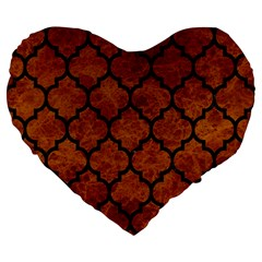 Tile1 Black Marble & Brown Marble (r) Large 19  Premium Flano Heart Shape Cushion by trendistuff