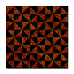 Triangle1 Black Marble & Brown Marble Face Towel by trendistuff