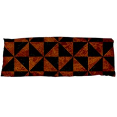 Triangle1 Black Marble & Brown Marble Body Pillow Case (dakimakura)