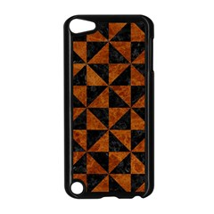 Triangle1 Black Marble & Brown Marble Apple Ipod Touch 5 Case (black) by trendistuff