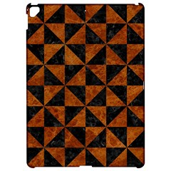 Triangle1 Black Marble & Brown Marble Apple Ipad Pro 12 9   Hardshell Case by trendistuff
