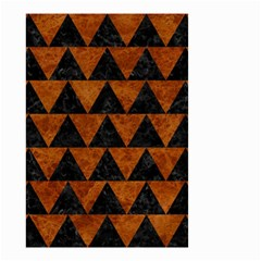 Triangle2 Black Marble & Brown Marble Small Garden Flag (two Sides) by trendistuff