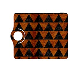 Triangle2 Black Marble & Brown Marble Kindle Fire Hdx 8 9  Flip 360 Case by trendistuff