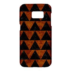 Triangle2 Black Marble & Brown Marble Samsung Galaxy S7 Hardshell Case