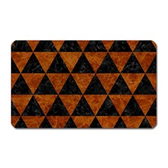 Triangle3 Black Marble & Brown Marble Magnet (rectangular) by trendistuff