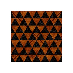 Triangle3 Black Marble & Brown Marble Acrylic Tangram Puzzle (4  X 4 ) by trendistuff