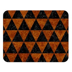 Triangle3 Black Marble & Brown Marble Double Sided Flano Blanket (large) by trendistuff