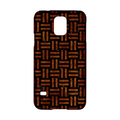 Woven1 Black Marble & Brown Marble Samsung Galaxy S5 Hardshell Case  by trendistuff