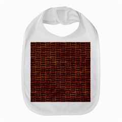 Woven1 Black Marble & Brown Marble (r) Bib by trendistuff
