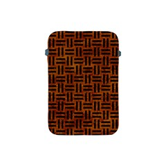 Woven1 Black Marble & Brown Marble (r) Apple Ipad Mini Protective Soft Case by trendistuff