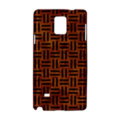 Woven1 Black Marble & Brown Marble (r) Samsung Galaxy Note 4 Hardshell Case by trendistuff