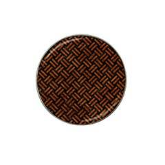 Woven2 Black Marble & Brown Marble Hat Clip Ball Marker (10 Pack) by trendistuff