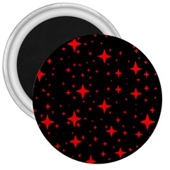 Bright Red Stars In Space 3  Magnets