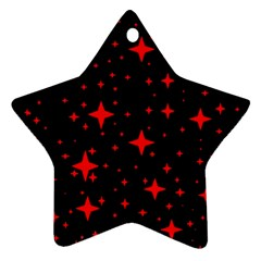 Bright Red Stars In Space Ornament (star)