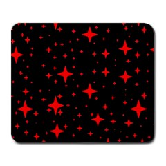 Bright Red Stars In Space Large Mousepads