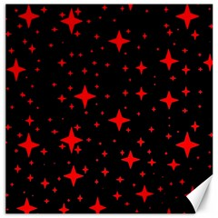 Bright Red Stars In Space Canvas 16  X 16