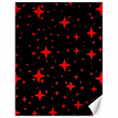 Bright Red Stars In Space Canvas 18  X 24   by Costasonlineshop