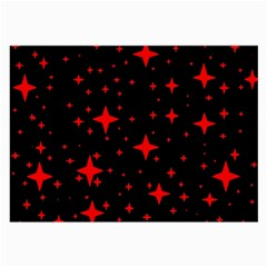 Bright Red Stars In Space Large Glasses Cloth (2 Side) by Costasonlineshop