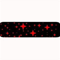 Bright Red Stars In Space Large Bar Mats by Costasonlineshop