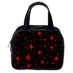 Bright Red Stars In Space Classic Handbags (one Side)