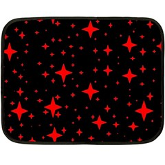 Bright Red Stars In Space Double Sided Fleece Blanket (mini)  by Costasonlineshop