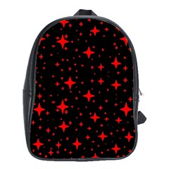 Bright Red Stars In Space School Bags(large)  by Costasonlineshop