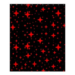 Bright Red Stars In Space Shower Curtain 60  X 72  (medium)  by Costasonlineshop