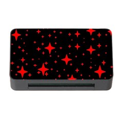 Bright Red Stars In Space Memory Card Reader With Cf