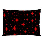 Bright Red Stars In Space Pillow Case (Two Sides) Front