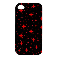 Bright Red Stars In Space Apple Iphone 4/4s Hardshell Case by Costasonlineshop
