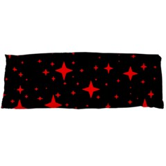 Bright Red Stars In Space Body Pillow Case Dakimakura (two Sides) by Costasonlineshop