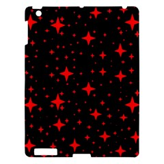 Bright Red Stars In Space Apple Ipad 3/4 Hardshell Case