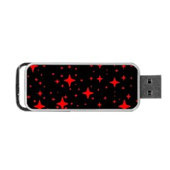 Bright Red Stars In Space Portable Usb Flash (two Sides) by Costasonlineshop