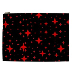 Bright Red Stars In Space Cosmetic Bag (xxl)
